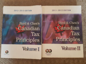 Byrd & Chen's Canadian Tax Principles and study guide