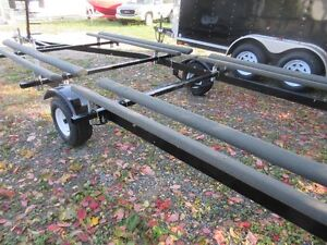 2016 PONTOON BOAT TRAILER  18FT To 21FT  BUNK WITH LADDER Kawartha Lakes Peterborough Area image 4