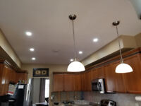 LED Pot light installation and Electrical Services .