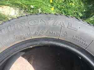 4 Gently Used Winter Tires