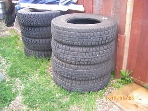 "4 TIRES COOPER SNOW GROOVE STUDDED LT235/85/R16 3/8"" TREAD DEPTH"