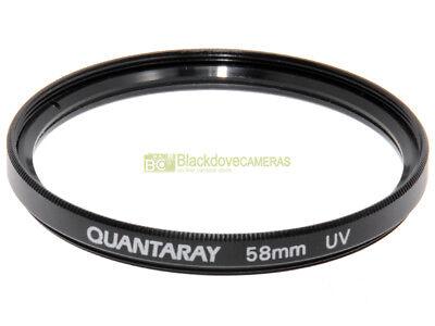 58mm. filtro UV Quantaray. Ultra Violet Filter.