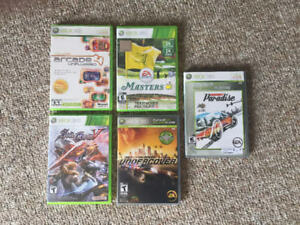 XBox360 games (rated E or T)