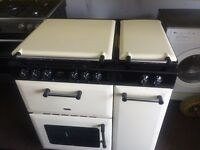 Black & cream new home 80cm dual fuel cooker grill & oven good condition with guarantee