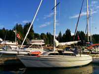 Sunstar 28 sailboat + MOORAGE