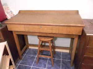 50s Drafting  Desk with stool
