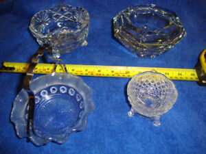 CANDY DISHES AND ASH TRAY AND AVON COLLECTABLE
