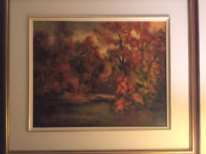 Stunning Oil Painting: Misery Autumn in Perfect Condition