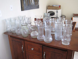various glass vases - great for any occasion/ wedding $5 each Kitchener / Waterloo Kitchener Area image 1