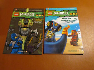 Two LEGO NINJAGO graphic novels
