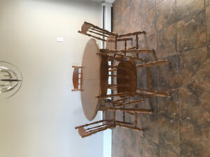 Solid table and chairs in great condition