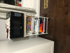 Microwave stand and storage