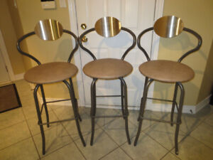 Three Amisco Brand Bar Stools for Sale