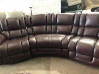 LAZ-Z-Boy Aurgesta leather reclining corner sofa ex display model