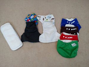 Alva, MG Baby and Oh Baby Ka Cloth Diapers and 4 liners