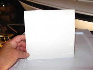 "6""x6"" shiny white ceramic tiles at 25 cents/ea. in Blind Bay, BC"