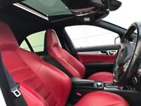 2011 61 Mercedes-Benz C63 AMG 6.3 AMG Edition 125 Saloon + WHITE + RED LEATHER +