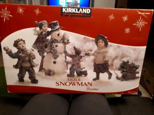 Kirkland Kids & Snowman Scene Christmas decor