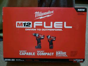 Milwaukee M12 fuel- 2 TOOL combo kit