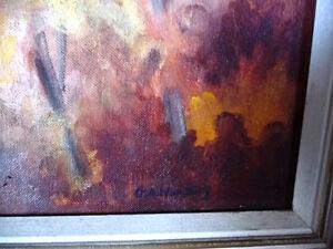 "Vintage Laurentian Oil by George Wakeling ""On The Lievre"" 1962 Stratford Kitchener Area image 5"