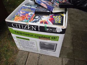 box full of vhs kids tapes London Ontario image 2