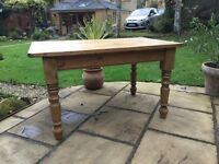 Solid Pine Rustic Farmhouse Kitchen / Dining Table