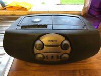 Samsung portable CD, radio & cassette player