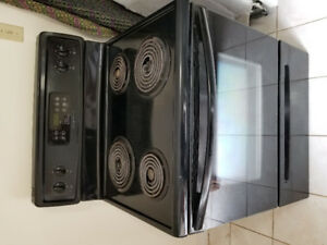 "Frigidaire 30"" black coil top electric stove range SELF CLEAN"