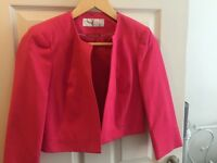Ladies cropped jacket size 8 - formal/wedding/event (pink)
