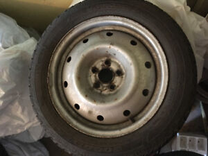 4 winter tires 205/55R16 in excellent condition with rims