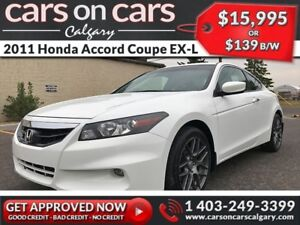 2011 Honda Accord Coupe EX-L V6 w/Leather, Navi, Sunroof $139B/W