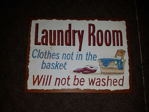 "Laundry Room Metal Sign 12.5"" x 9.5"""