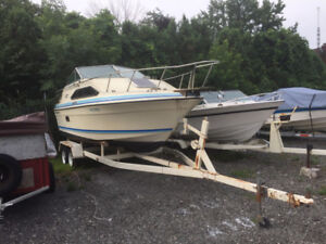 27' Cabin Cruiser, with motor and trailer