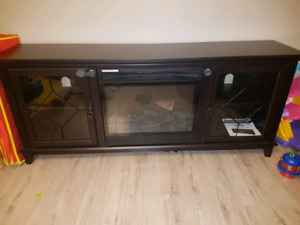 Lotus electric fireplace entertainment stand