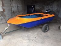 9ft boat outboard and trailer