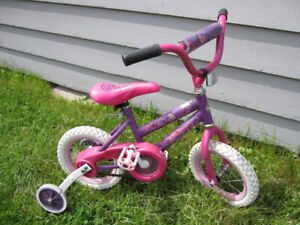 Huffy 12 Inch Girls Youth Kids Bike for 3-5 Year Olds
