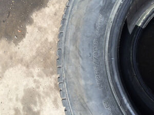 "Michelin 18"" LTX A/T2 35% tread tires. Rubber only."