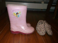Princess Rain Boots & Slippers