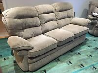 3 piece suite , 3 seater sofa, 1 recliner armchair and 1 standard armchair