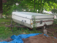 1978 starcraft pop- up travel tent trailer. AS IS
