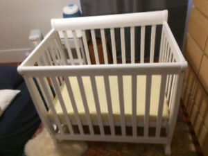 Baby Crib (Davinci Emily Mini 2-1 Convertible wood Baby Crib)