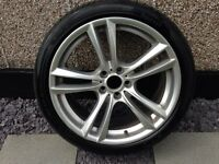 """Bmw 20"""" alloy and pirreli run flat tyre with 6-7mm tread on it 100% genuine alloy"""