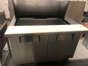 used commercial refrigerator with table