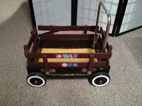 """Vintage """"Radio Flyer"""" Wooden Wagon - Town and Country Style"""