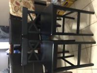 IKEA counter stools and free coffee table