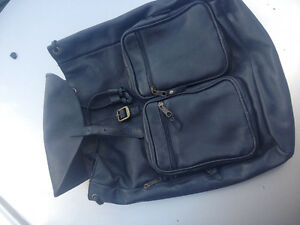 Black leather Colombian backpack Almost new...excellent quality!