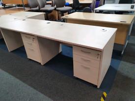 Second hand Maple Desks, 1200mm,huge Glasgow Showroom