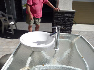 Vessel Bathroom Sink with Faucet