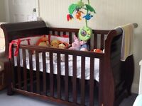 Boori Sleigh Cot bed And Mattress