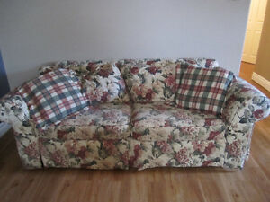 Two Couches with Floral Print